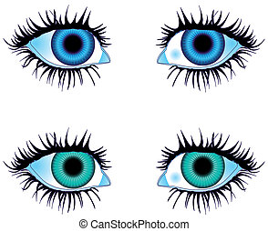 Eyes Colored Blue - Illustration vector Eyes Colored Blue