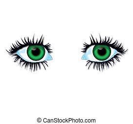 Green eyes - Illustration green eyes of body parts