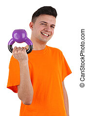 guy with weight