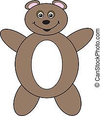 Happy Cartoon Teddy Bear - simple drawing of a happy teddy...