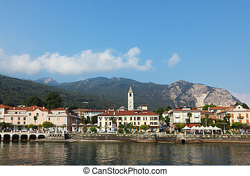 Magnificent resort city on the lake Maggiore, photographed...