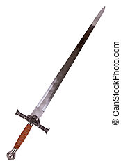 Epee mcloed - Medieval sword isolated on white background...