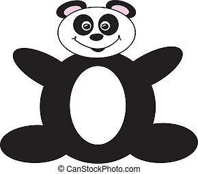 Happy Cartoon Panda Bear - simple drawing of a happy panda...