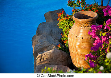 装飾用である,  amphora, ベッド