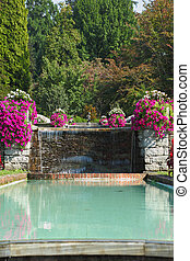 The flowers and fountains - The shore of Lake Maggiore,...