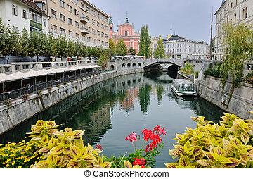 ljubljana capital of slovenia - city Ljubljana, capital of...