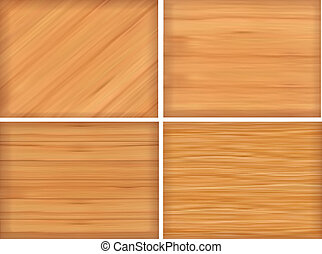 Set of brown wood texture Vector illustration