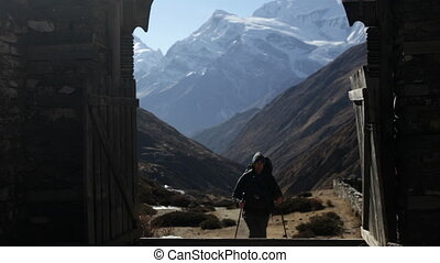 Traveler. Mountains. Nepal.