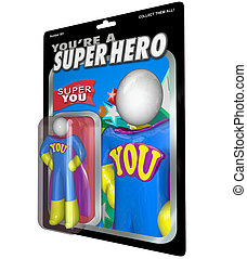 You Are a Super Hero Action Figure Praise Recognition - You...