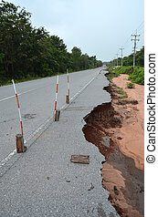 road eroded