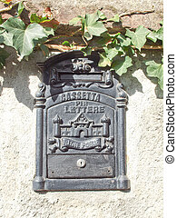 Mailbox - Ancient Italian mail box with text Cassetta delle...