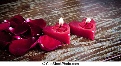 Valentines candles