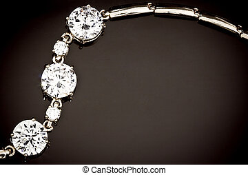 diamantes, pulsera