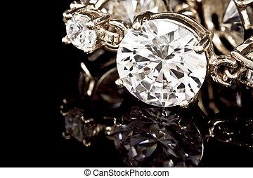 diamantes, pulseira