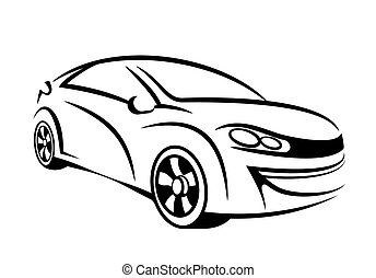 Car line art - My own car concept in line art