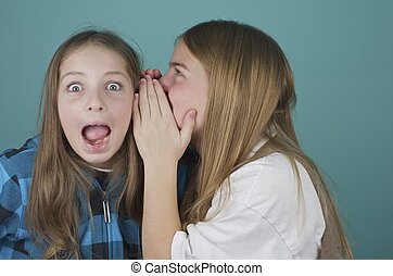 Surprise! Girls Telling Secrets - One girl tells another...