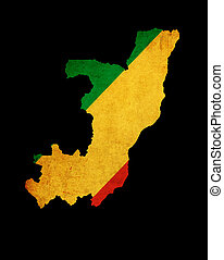 Map outline of Republic of Congo - Outline map of Republic...