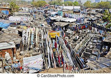 Dhobhi Ghat Mumbai assembly line - Mumbai, Dhobhi ghat,...