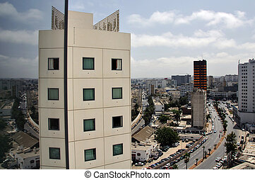 Casablanca City, Morocco - A view from the Hotel at the city...