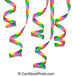 Paper streamer - Colorful paper streamer. All on white...