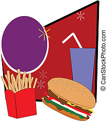 burger and fries combo - teens diet of burger and fries with...