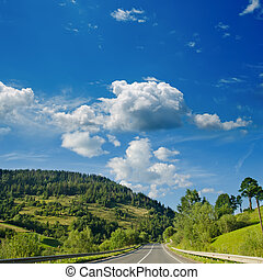 road in mountain. Ukrainian Carpathians