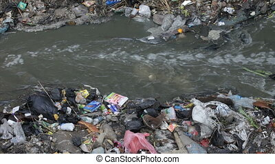 waste and river