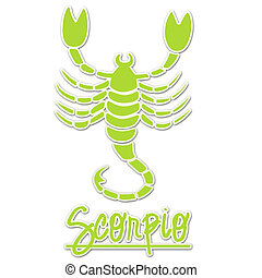 Lime Sticker Scorpio Scorpion - Scorpio Scorpion