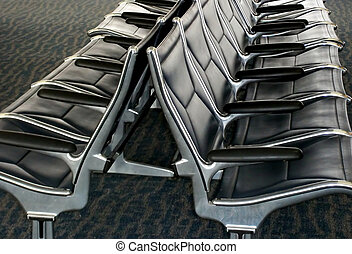 Airport waiting lounge.
