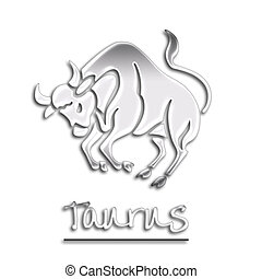 Chrome Taurus Bull - zodiac sign