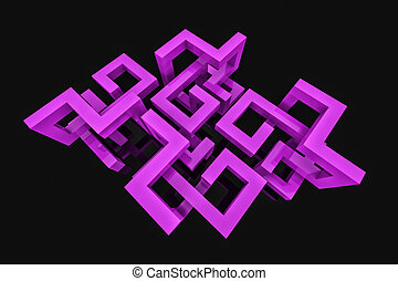 Abstract background with 3D structure