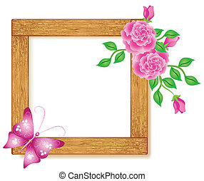 Photo frames with roses