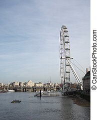 Thames View with London Eye - View looking East from...