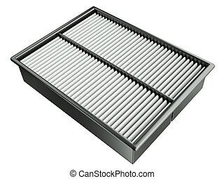 Air filter   - Automotive air filter. 3D render.