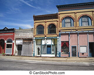 Old store fronts in Illinois - Old store fronts abandoned in...