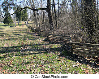 Split rail fence @ Hodgenville, KY - Split rail fence at Abe...