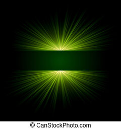 green light - abstract green lights over dark background...