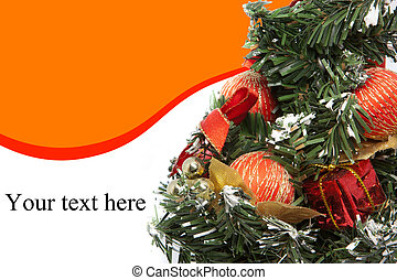 Christmas Tree with text area on the white background.
