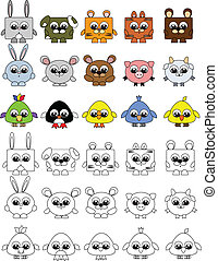 Animals set,coloring