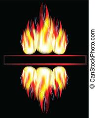 Fire,banner