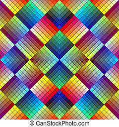 Art deco mosaic tile in retro style - Seamless pattern in...