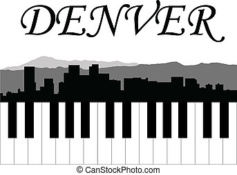 Denver music - City of Denver high-rise buildings skyline