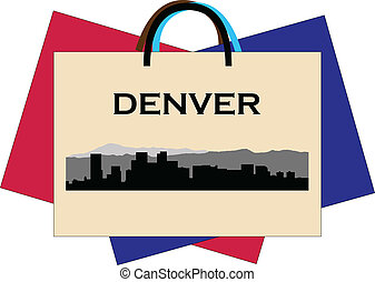 Denver shopping - City of Denver high-rise buildings skyline