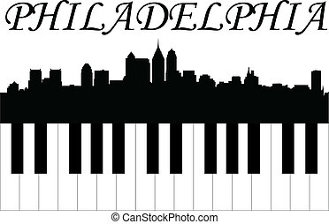 Philadelphia music - City of Philadelphia high-rise...