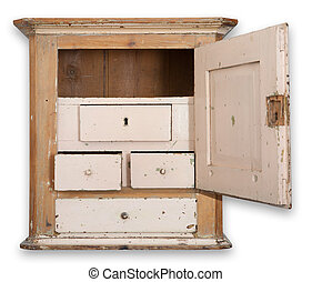 wall cupboard cabinet isolated - Cupboard or wall cabinet...
