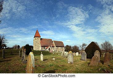 Medieval Church grave graveyard England