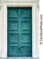 Pantheon doors in Paris