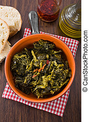 Stewed turnip greens Cime di rapa stufate