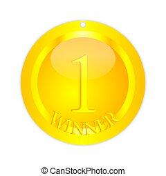 Gold medal - winner - Gold medal for the winner as an...