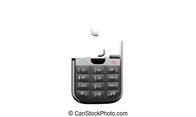 Mobile phone on white background. - Mobile Phone assembling...